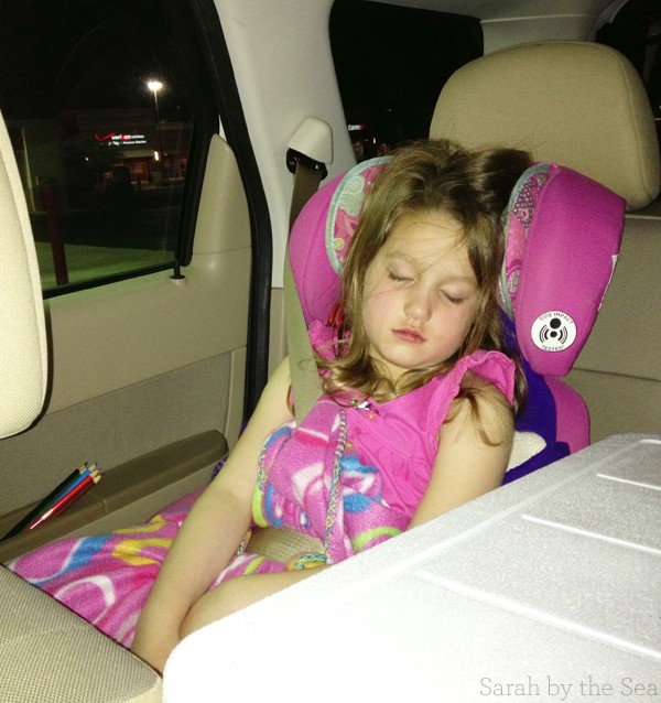 Road Trip Sleeping Sarah by the Sea