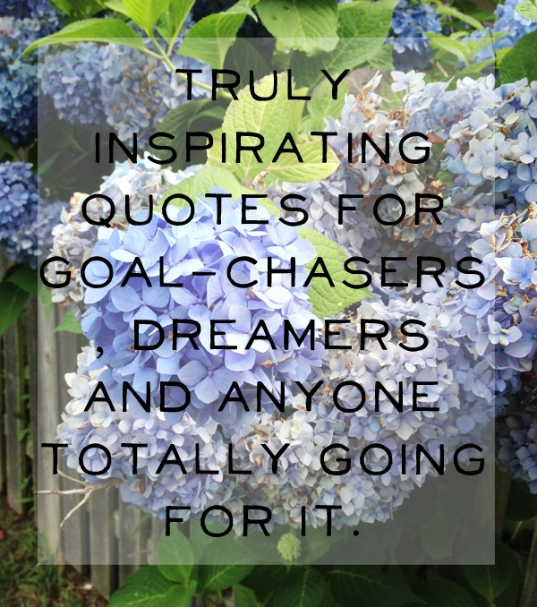 15 Inspirational Quotes for Goal-Chasers, Dreamers and Anyone Totally Going For It