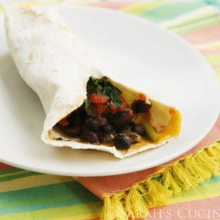 Black Beans and Beet Greens Burritos