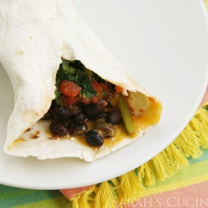 Black Beans and Beet Greens Burritos