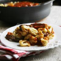 Grilled Steak Bruschetta Tortellini
