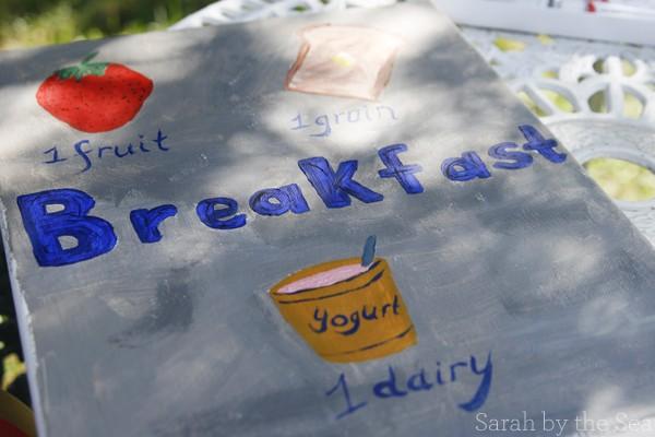 DIY Breakfast Nook Sign