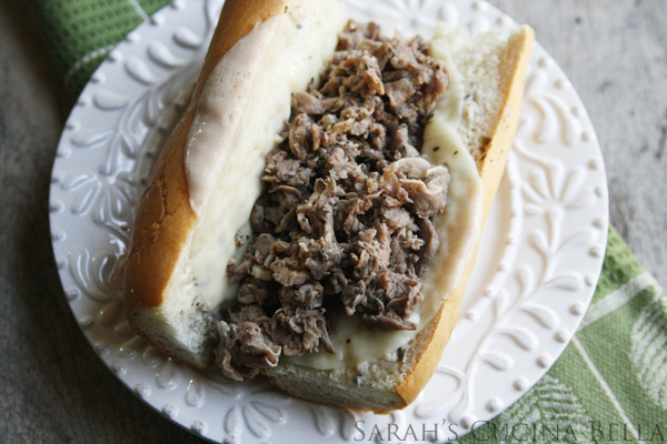 Garlic Parmesan Cheesesteaks