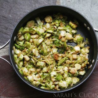 Pan-Seared Shredded Brussels Sprouts and Apples