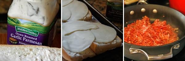 Making Garlic Parmesan Cheesesteaks