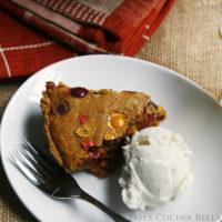 Pumpkin M&M Cookie Pie