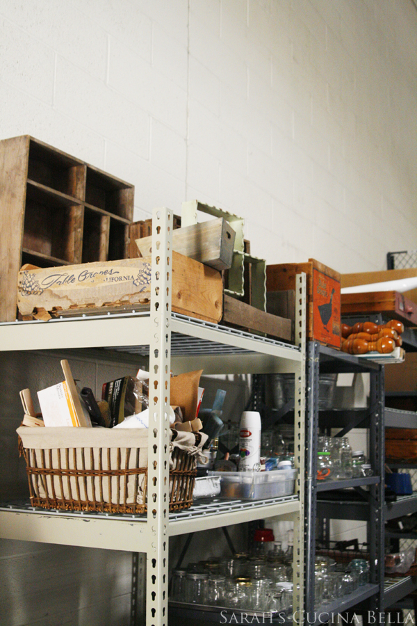 Rustic Props in the Fine Cooking Studio Storage Area