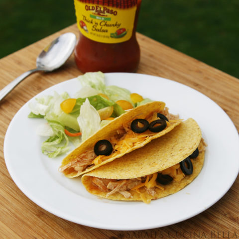 Easy Slow Cooker Chicken Enchiladas Tacos