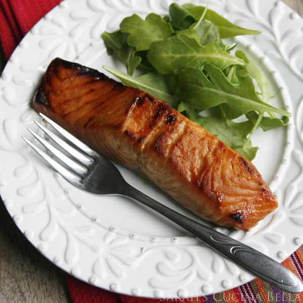 miso salmon on plate