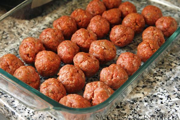 taco meatballs ready to bake