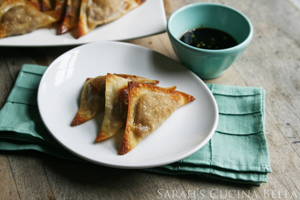 New on The Kitchenthusiast: Baked Chicken Teriyaki Wontons