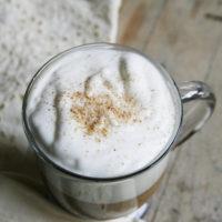 Frothy Eggnog Latte Coffee