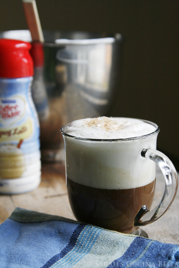 Frothy Eggnog Latte Coffee
