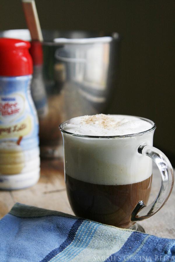 Frothy Eggnog Latte