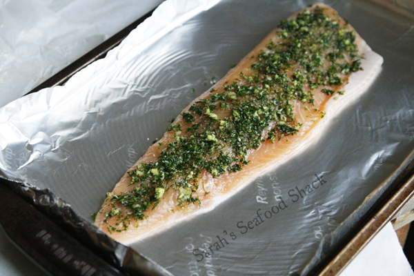 Making Garlic Dill Arctic Char