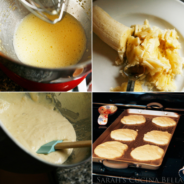 Steps for Making Banana Split Pancakes