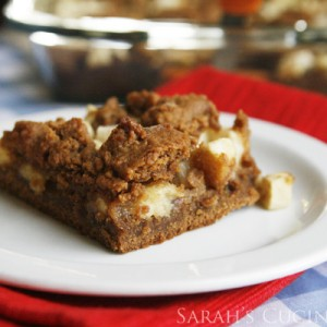 Apple Gingerbread Bars (Christmas Cookies)