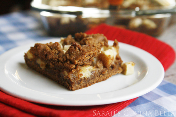 Apple Gingerbread Bars