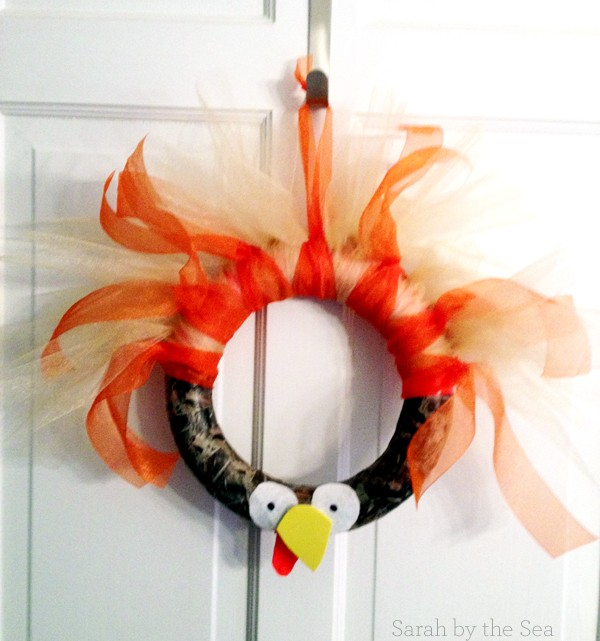 Easy Turkey Wreath Tutorial