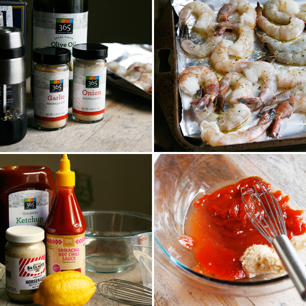 Roasted Shrimp Cocktail with Spicy Sriracha Cocktail Sauce - Sarah's ...