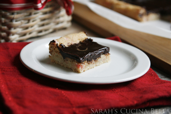 Peppermint Truffle Cookie Bars