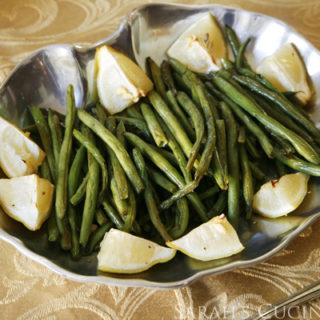 Lemon Garlic Roasted Green Beans