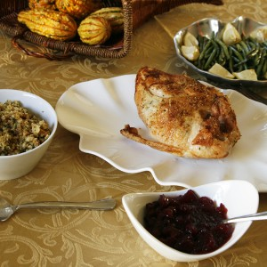 Roasted Lemon Rosemary Split Turkey Breast