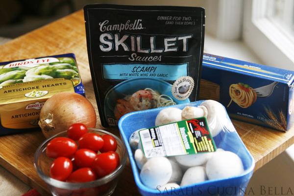 Veggie Scampi Ingredients