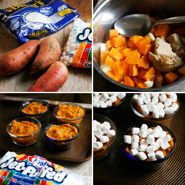 making mini sweet potato casseroles #shop