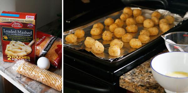Making Cheesy Loaded Potato Bites
