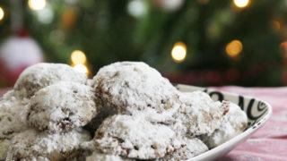 Pecan Toffee Wedding Cookies (Holiday Baking)