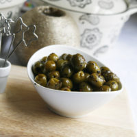 Roasted Spicy Herbed Green Olives (Easy Holiday Recipes)