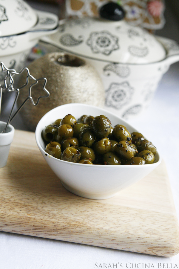 Roasted Spicy Herbed Green Olives #shop