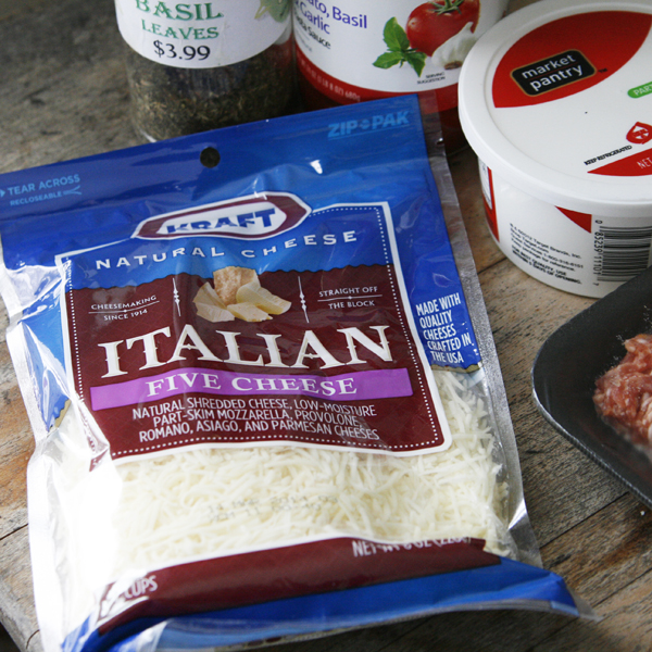 Sausage Lasagna Dip Ingredients