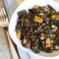 Balsamic Kale and Black Lentils