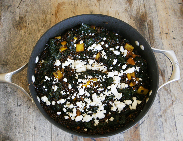 Balsamic Kale and Black Lentils