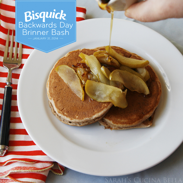 Cinnamon Pancakes with Warm Buttery Apple Topping