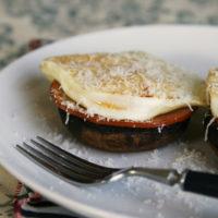 Roasted Portobello Mushroom Breakfast Stacks with Canadian Bacon