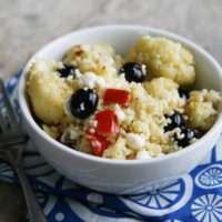 Cauliflower Blueberry Couscous Salad with Meyer Lemon Vinaigrette