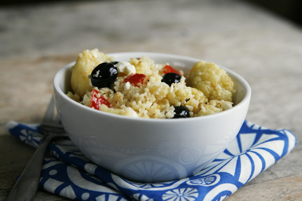 Cauliflower Blueberry Couscous with Meyer Lemon Vinaigrette