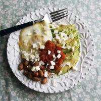Fried Egg with Beans, Avocado and Queso Blanco
