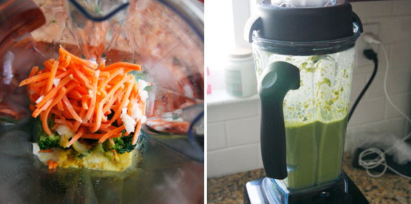 Making Broccoli Cheddar Soup in a Vitamix