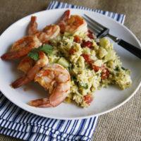 Zesty Mango Chile Shrimp and Rice