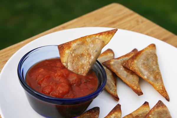 Baked Loaded Nachos Wontons | Sarah's Cucina Bella