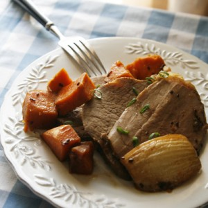 Slow Cooker Korean BBQ Pot Roast and Sweet Potatoes (Slow Cooker Dinners)
