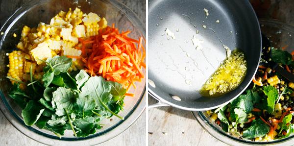 Making Lentil Salad