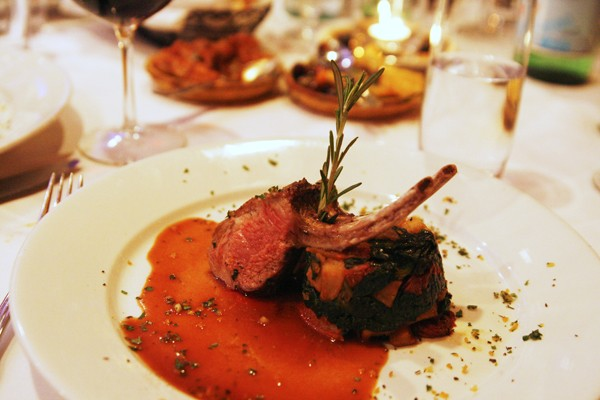 Roasted New Zealand Lamb Chop at Arezzo