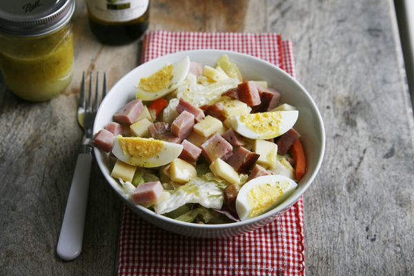 Romano Rosemary Lemon Vinaigrette on Ham Egg Cheese Salad