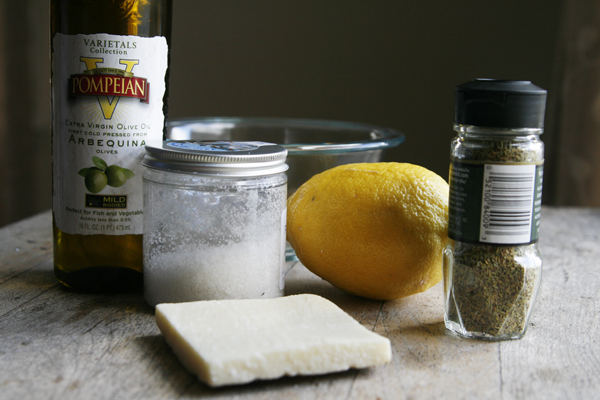 Romano Rosemary Lemon Vinaigrette Ingredients