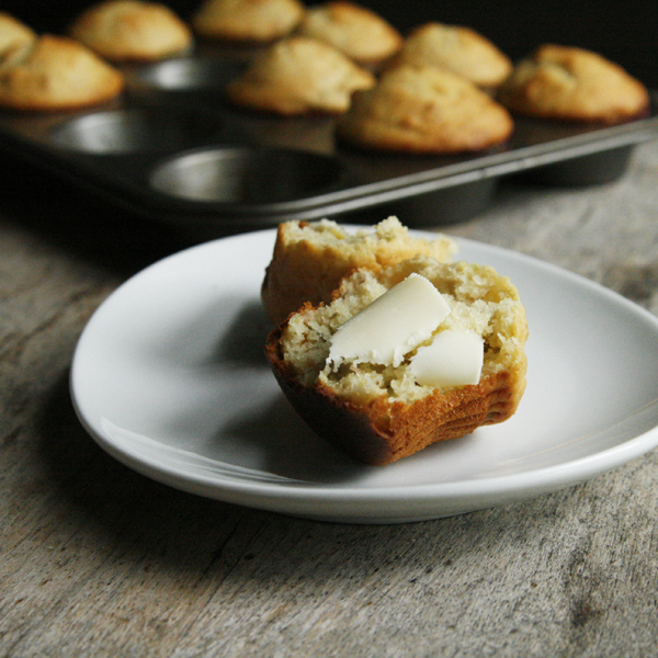 Banana Pistachio Muffins with Butter